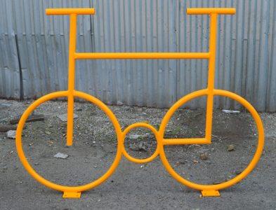 Велопарковка желтая