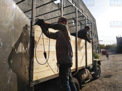 Каркас на грузовик отверстия для крепления деевянной обрешетки