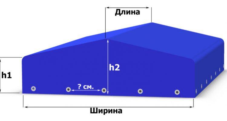 Схема тента на легковой прицеп