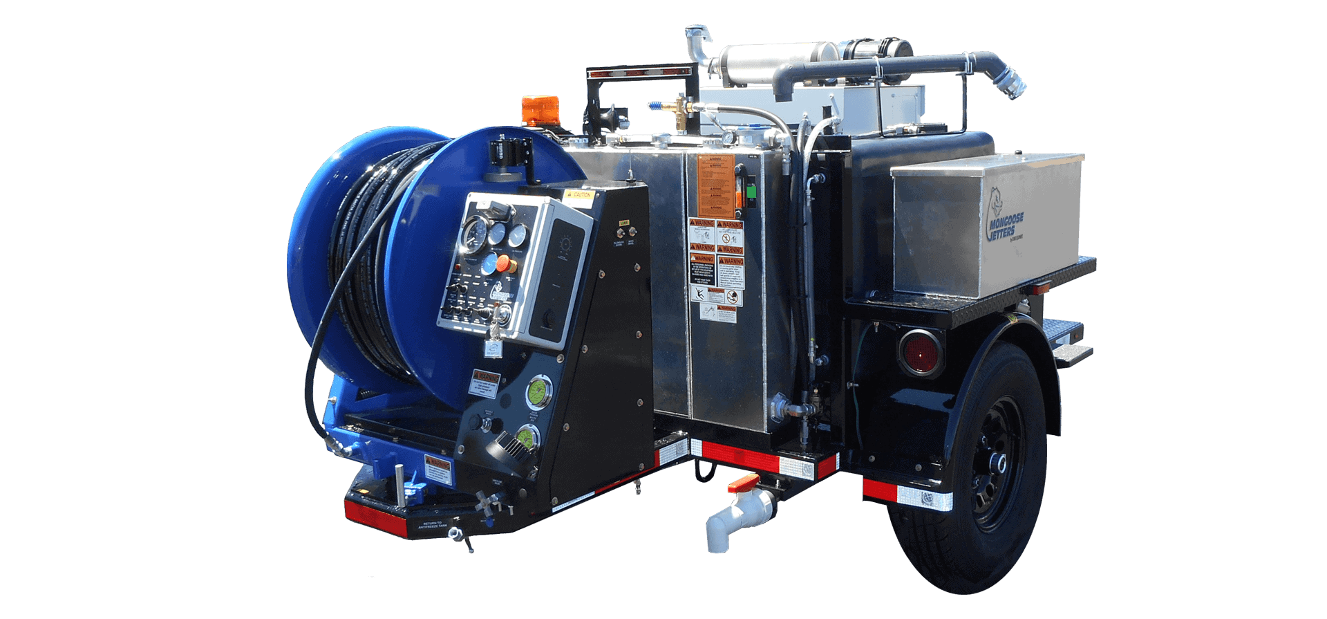 Mongoose Jetters, sewer jet Trailer, Model 254, sewer jet