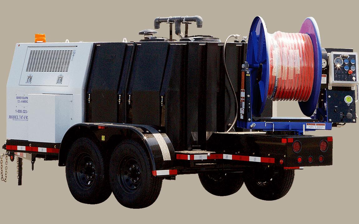 Model 747, Jetter Trailer, Sewer Equipment Co. of America