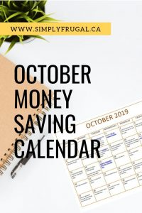 Happy October! Download this free Money Saving Calendar for October and get ready to save a TON of money!