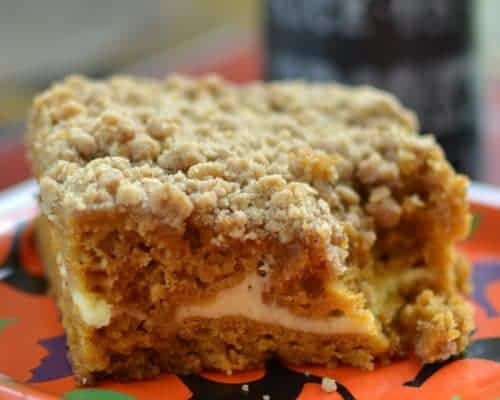 Pumpkin Cream Cheese Crumb Cake