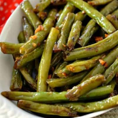 Stir Fried Green Beans with Ginger and Garlic