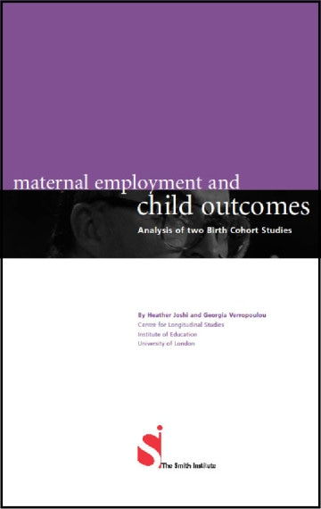 Maternal Employment and Child Outcomes: Analysis of two Birth Cohort Studies