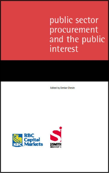 Public Sector Procurement and the Public Interest