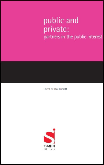 Public and Private: Partners in the Public Interest
