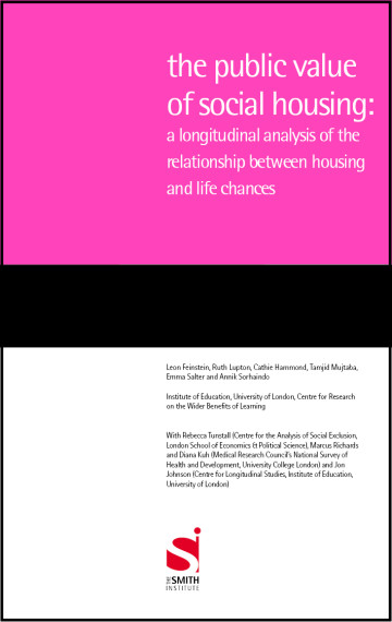The Public Value of Social Housing: A longitudinal analysis of the relationship between housing and life chances