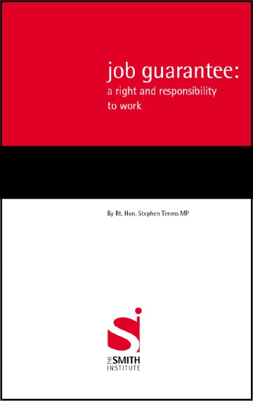 Job Guarantee: a Right and Responsibility to Work
