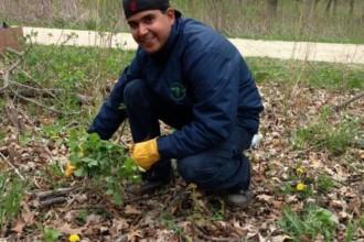 Lake Forest Preserve volunteer