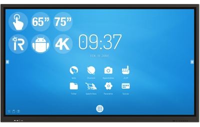 """Android SpeechiTouch 65″ or 75"""" interactive screens"""