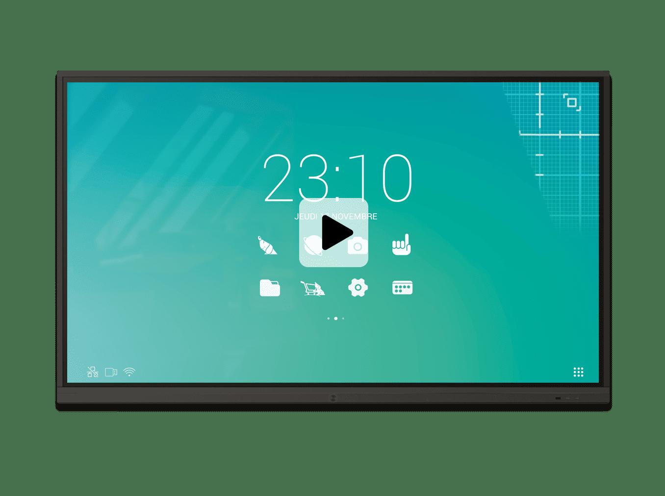 Ecran interactif UDH superglass