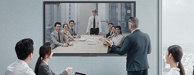 écran interactif professionnel visioconférence