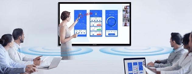 écrans tactiles pour la visioconférence