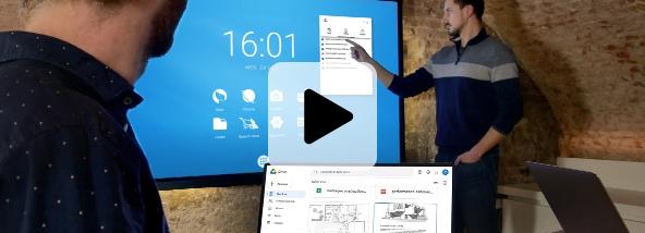 cloud écran interactif travail collaboratif