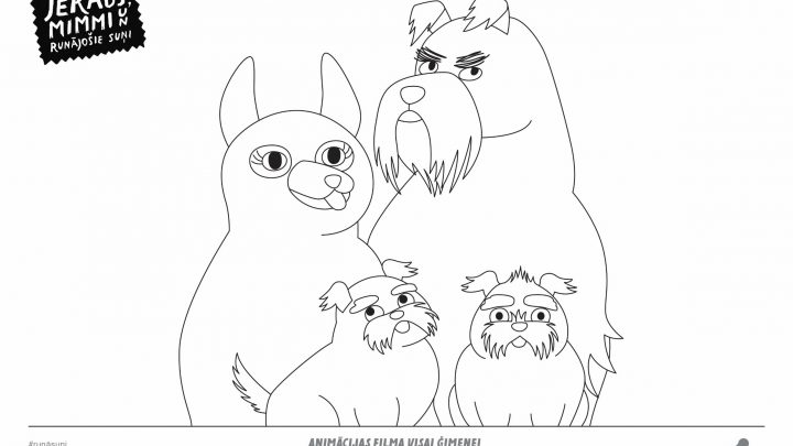 Colouring page #4 (Talking dogs)