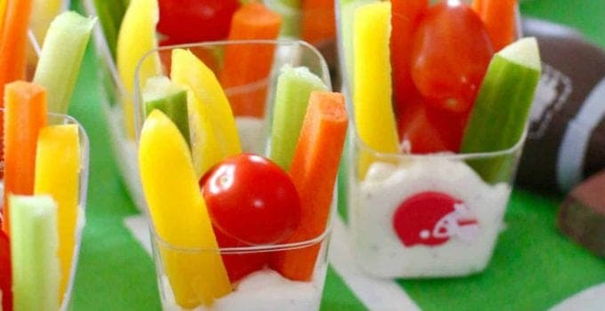 Game Day Veggie Dip Cups