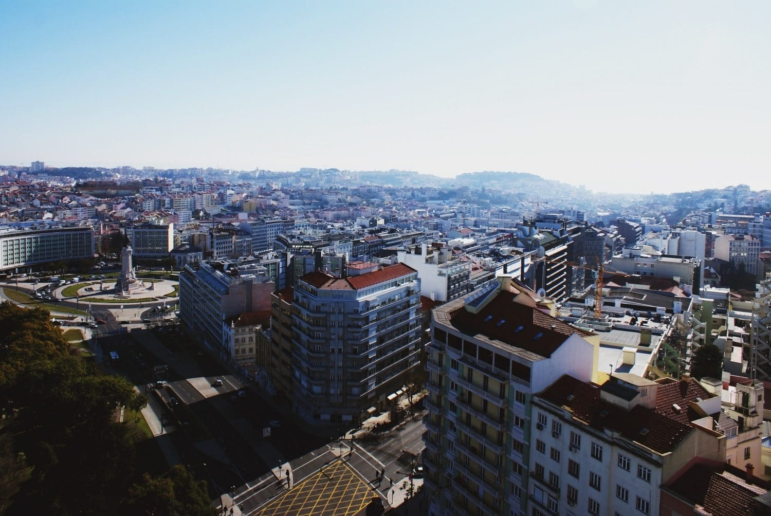 Panoramic view over Lisbon from Ritz Hotel Four Seasons