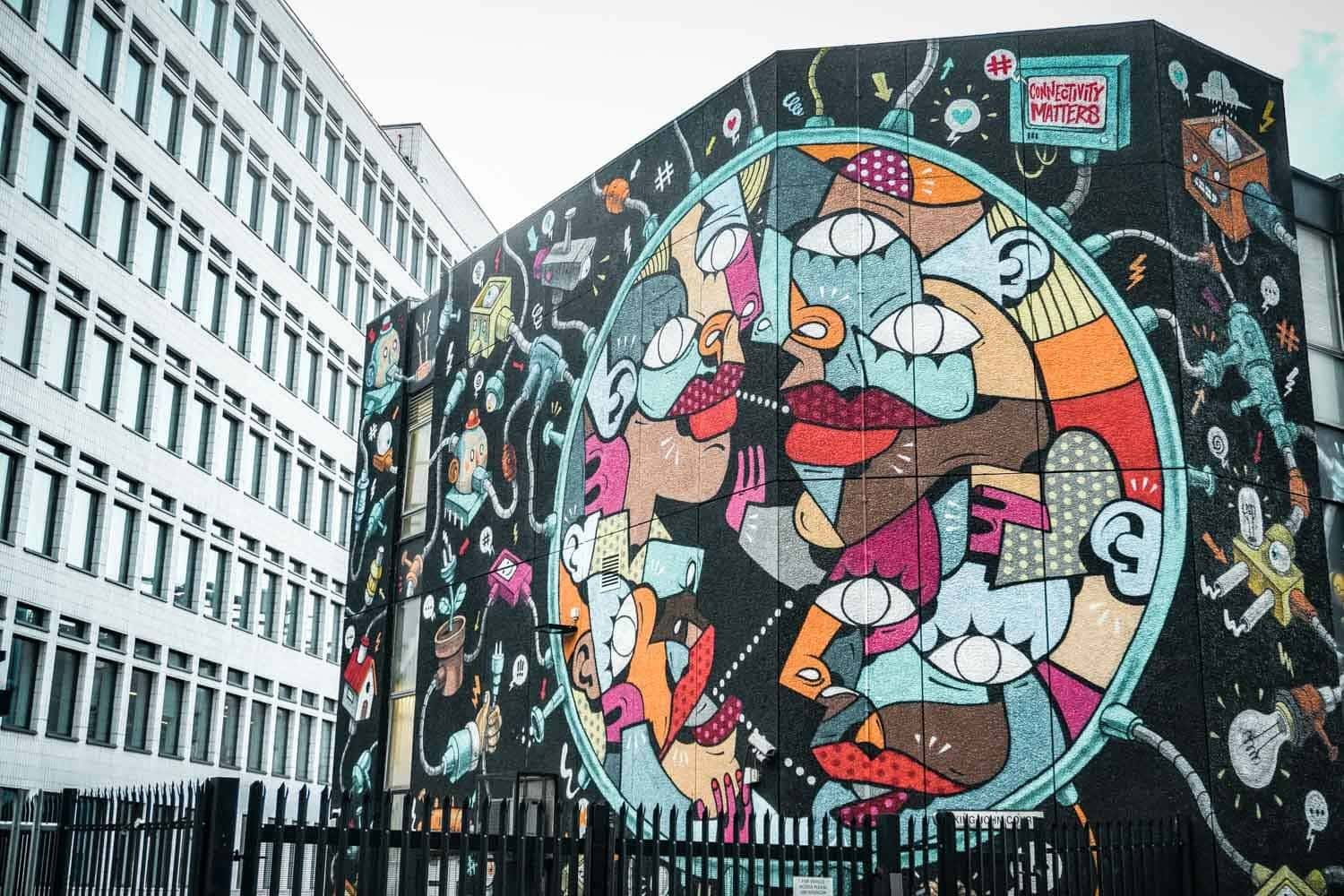 Large street art in London