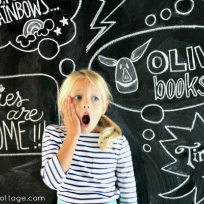 Back to School Chalkboard Art