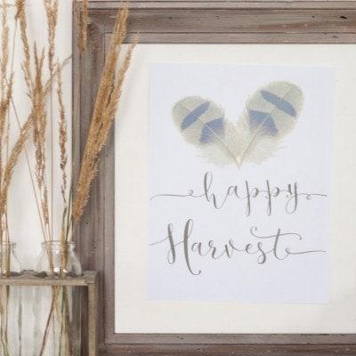 Happy Harvest Printable + 23 Free Printables