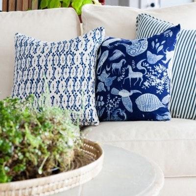 DIY Anthropologie Napkin Throw Pillows