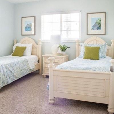 Beach Condo Guest Room and Bath Coastal Decor