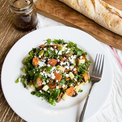 Friday Feels – Maple Sweet Potato Kale Salad