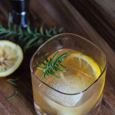 Lemon Maple Bourbon Cocktail