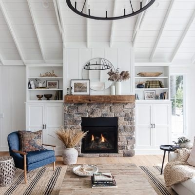 Fall Living Room Home Decor