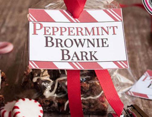Peppermint Brownie Bark