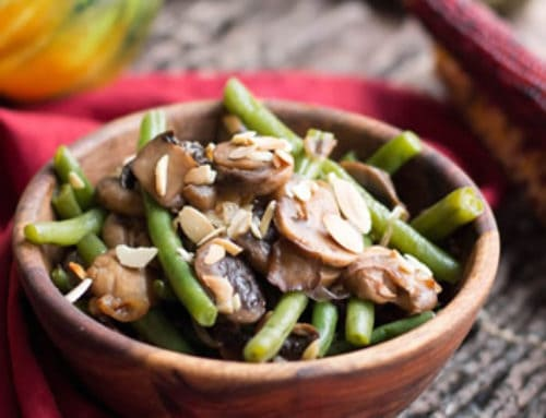 One Pan Green Beans, Mushrooms and Shallots
