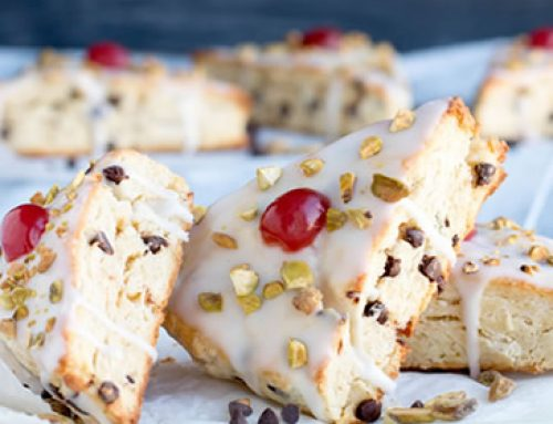 Chocolate Chip Ricotta Cannoli Scones