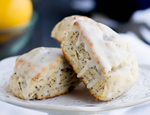 Lemon Ricotta Poppy Seed Scones