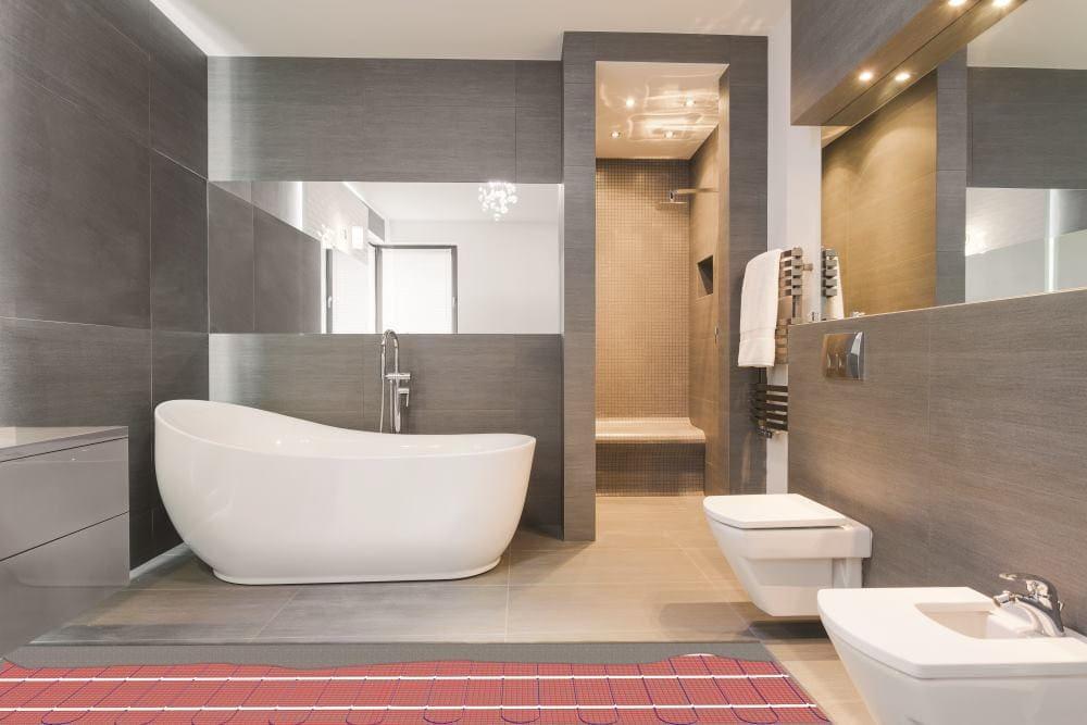 Elektrische vloerverwarming badkamer