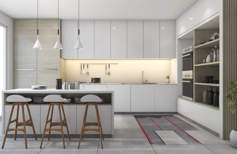 Elektrische vloerverwarming keuken