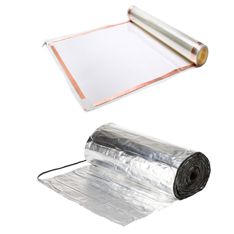 2 typen vloerverwarming folies voor elektrische vloerverwarming