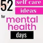 self care ideas mental health