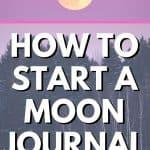 moon journaling