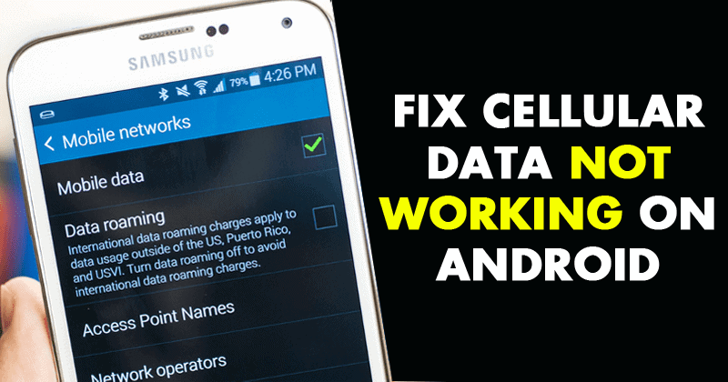 How to fix no mobile data or internet | mobile data not working