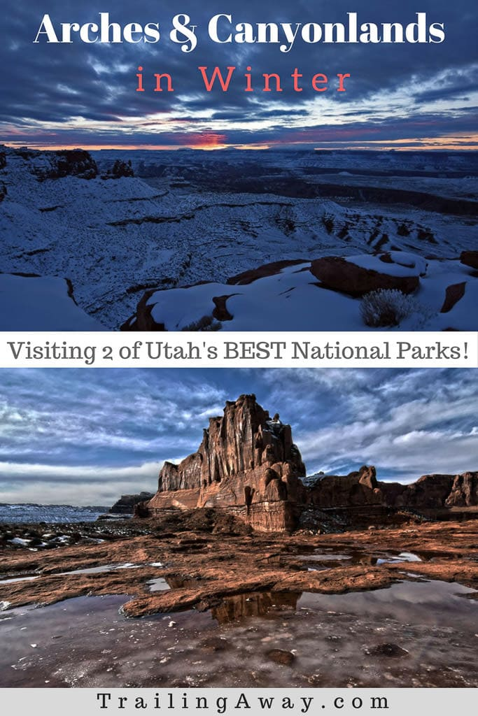 Exploring Utah\'s Arches & Canyonlands National Park in winter is the perfect escape with beautiful views and awesome hiking trails. Reach the post and check out the photos! #utah #winter #archesnationalpark #nationalparks #canyonlands