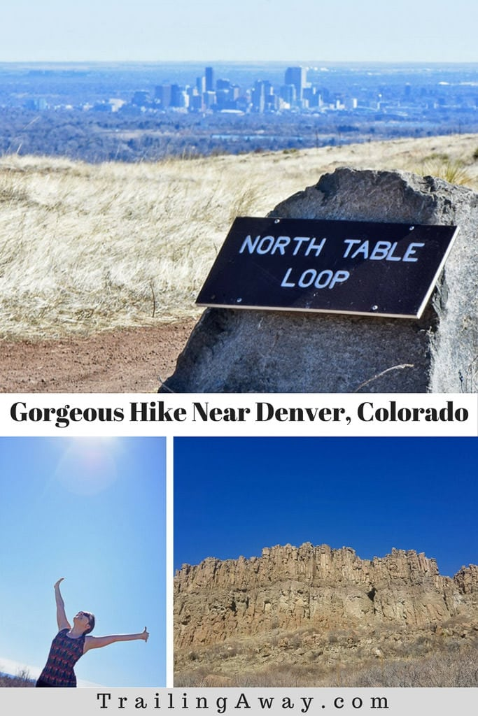 Want an easy hike with great views of the city and mountains? Hiking North Table Mountain near Denver is perfect. Read our review of this trail system in Golden, CO, for more. #colorado #hike #golden #denver #tablemountain