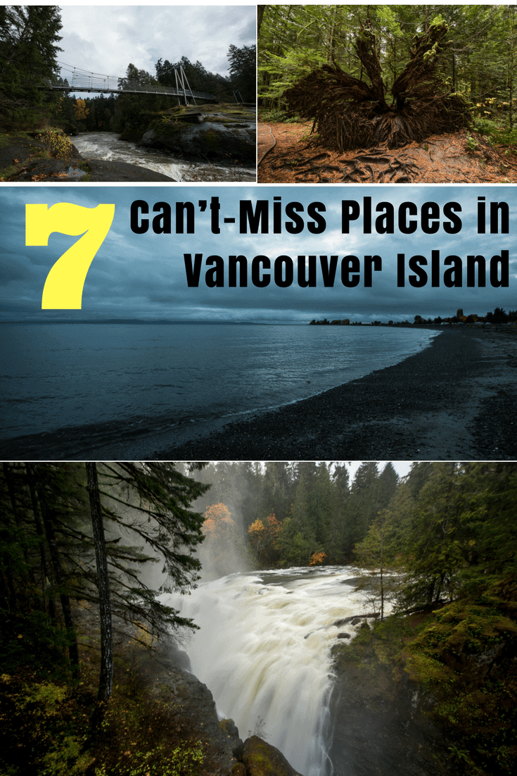 There are so many hidden treasures in Central Vancouver Island, Canada. Make sure you see them all with our can\'t-miss list! #vancouverisland #canada #waterfalls #roadtrip #hike
