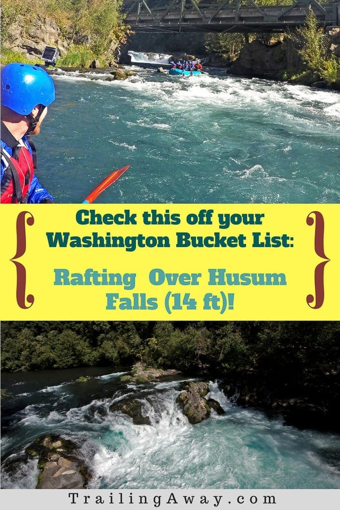 Go whitewater rafting down the beautiful White Salmon River and over Husum Falls on a Columbia River Gorge rafting adventure with Zoller\'s Outdoor Odysseys in Washington! Definitely something epic to add to your bucket list! #washington #oregon #columbiarivergorge #whitewater #rafting