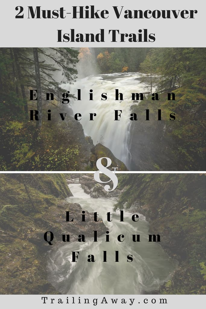 Planning a trip to Vancouver Island? Add Englishman River Falls & Little Qualicum Falls to your itinerary for two short hikes to jaw-dropping views! This is a must-try Canada road trip! #washington #vancouverisland #canada #waterfalls #roadtrip