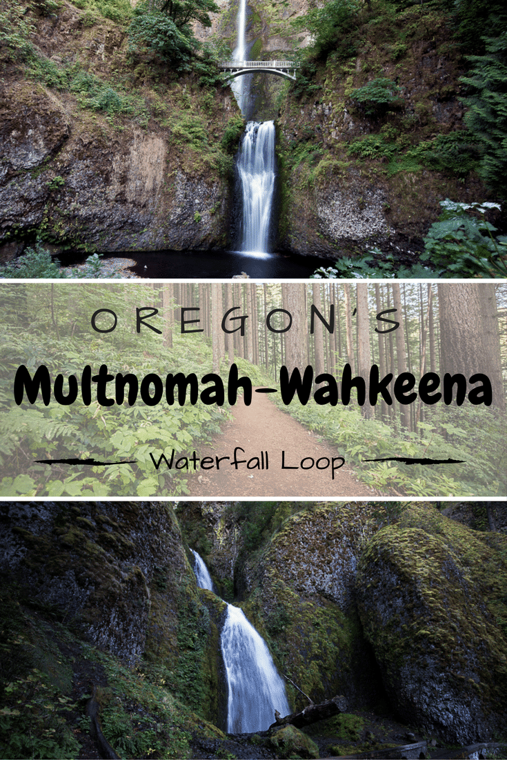 The 5-mile Multnomah-Wahkeena Loop hike is one of Oregon\'s most beautiful trails! Definitely check it out on your next trip to the PNW! This is a can\'t miss in the Columbia River Gorge near Portland to see some beautiful waterfalls. #oregon #multnomahfalls #pnw #waterfalls #bucketlist