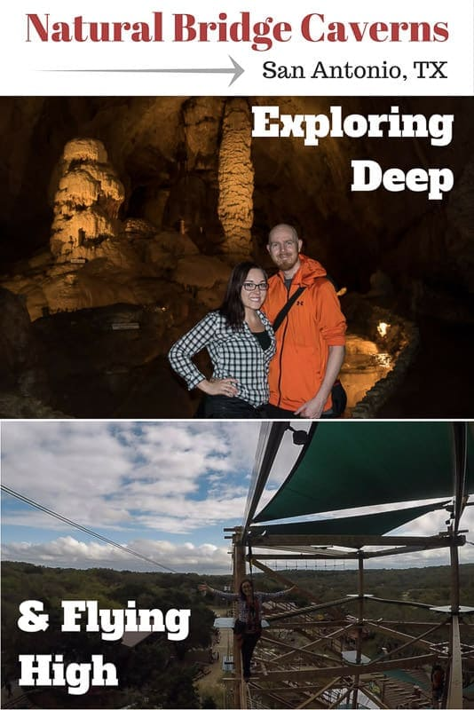 A fun day trip itinerary at Natural Bridge Caverns in San Antonio, Texas. From exploring deep in the gorgeous caverns to ziplining up high! #texas #hillcountry #naturalbridgecaverns #caverns #tourist