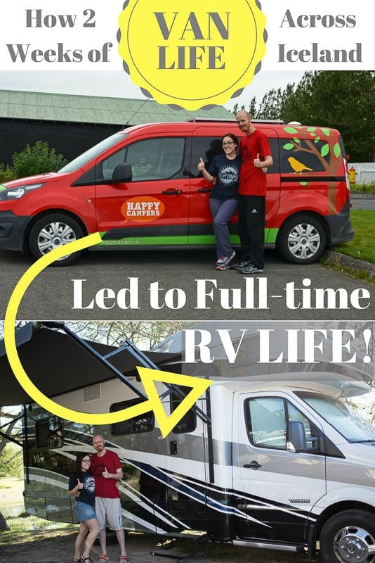 We got infected by the freedom flu during our camper van trip in Iceland & ended up becoming full-time RVers a year later. Read our story… #digitalnomad #vanlife #campervan #iceland #Rving #fulltimervers