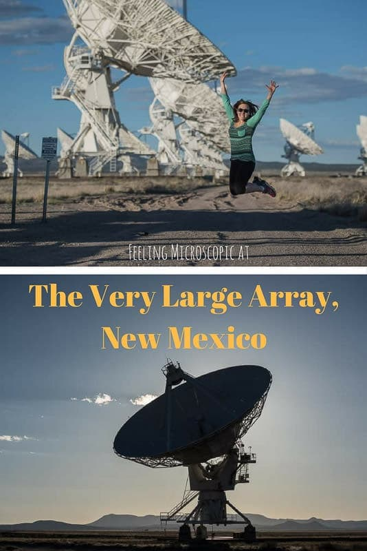 The Very Large Array in New Mexico isn\'t just a tourist attraction, it is a great feat of science and an inspiring destination for travelers and science enthusiasts. Totally worth the drive to the middle-of-nowhere! #newmexico #verylargearray #desert #space #satelites #astronomy