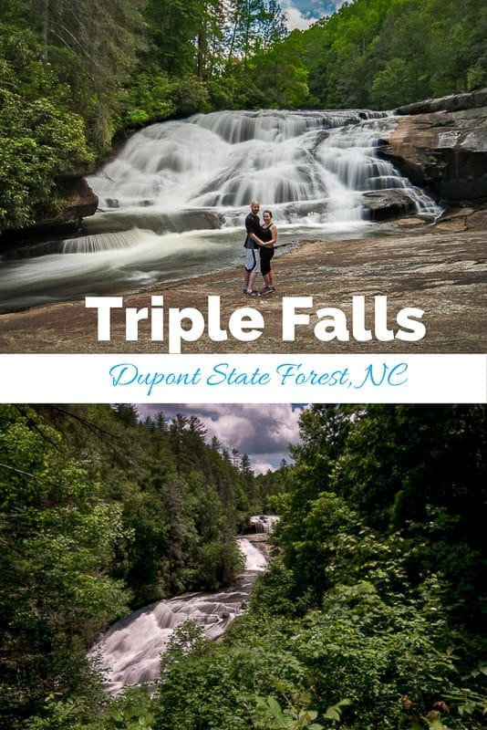 Getting Nostalgic at Triple Falls in North Carolina